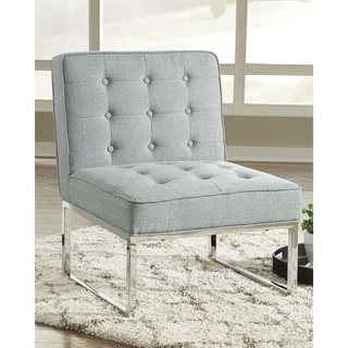 Cimarosse Contemporary Gray Accent Chair with Chrome Toned Metal Legs