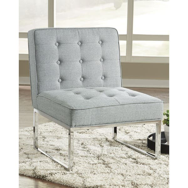 Phenomenal Shop Cimarosse Contemporary Gray Accent Chair With Chrome Cjindustries Chair Design For Home Cjindustriesco