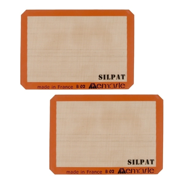 Silpat AE420295-07 Premium Non-Stick Silicone Baking Mat 2-Pack. Opens flyout.