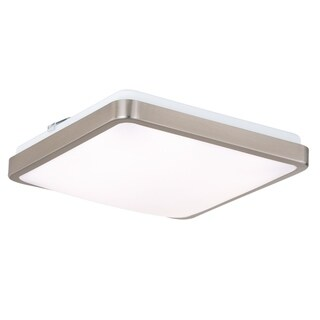"Vaxcel Aries 11"" Square LED Flush Mount Satin Nickel - 11-in W x 3.25-in H x 11-in D"