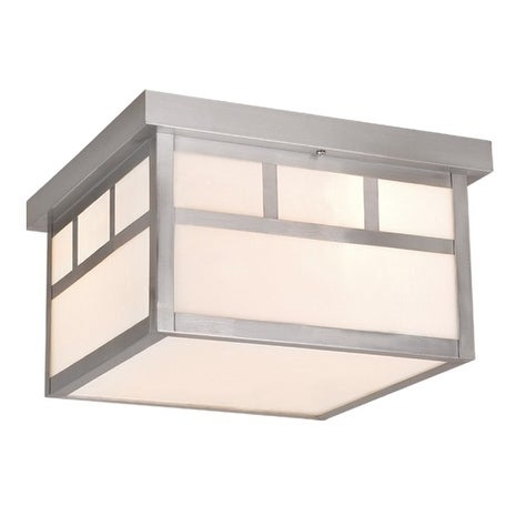 Vaxcel Mission 12 Outdoor Ceiling Light Stainless Steel Free Shipping Today 20906838
