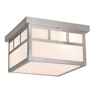 """Vaxcel Mission 12"""" Outdoor Ceiling Light Stainless Steel"""