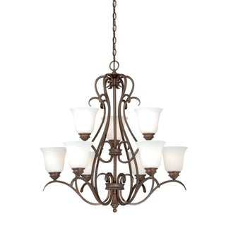 Vaxcel Hartford 9L Chandelier Weathered Patina