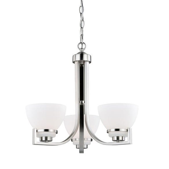 Vaxcel Metropolis 3L Chandelier Satin Nickel