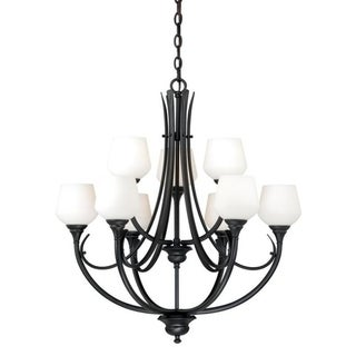 Vaxcel Grafton 9L Chandelier Oil Rubbed Bronze