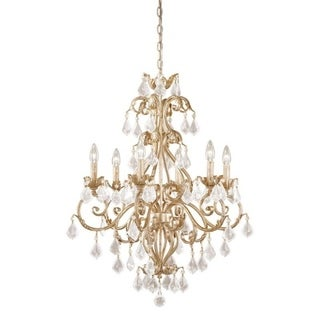 Vaxcel Newcastle 6L Chandelier Gilded White Gold