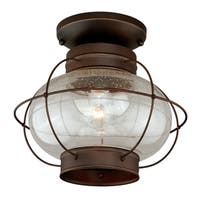 "Vaxcel Chatham 13"" Outdoor Semi-Flush Mount Burnished Bronze"