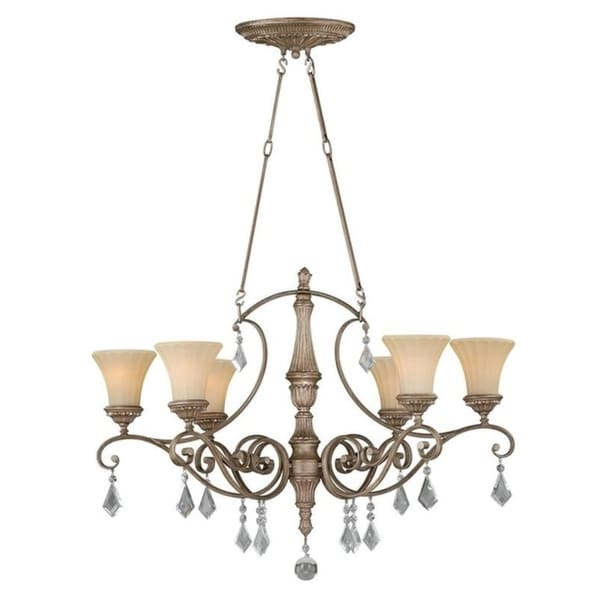 "Avenant 36"" Oval Chandelier French Bronze"