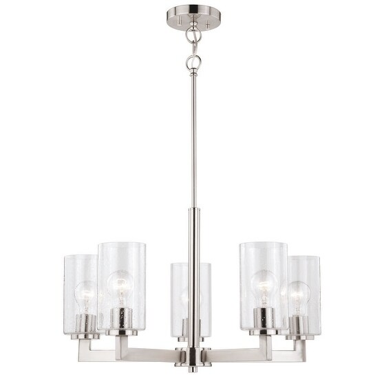 Vaxcel Addison 5L Chandelier Satin Nickel