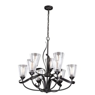 Cinta 9L Chandelier Oil Rubbed Bronze