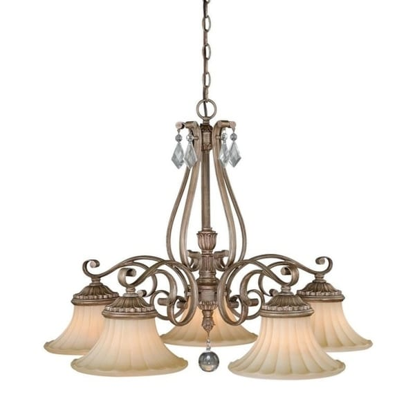 Avenant 5L Kitchen Chandelier French Bronze