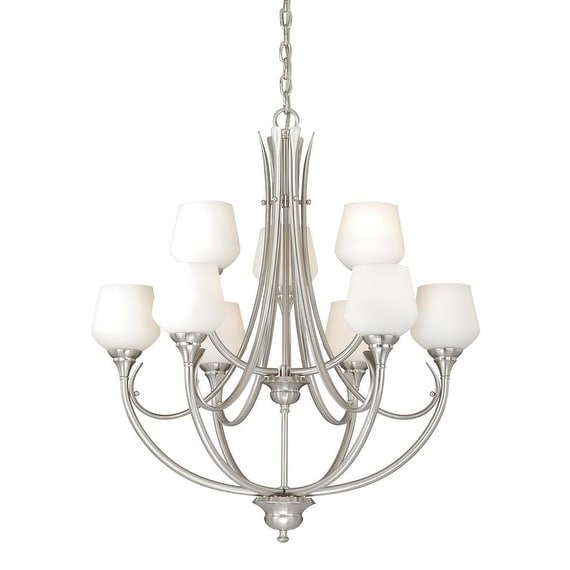 Vaxcel Grafton 9L Chandelier Satin Nickel