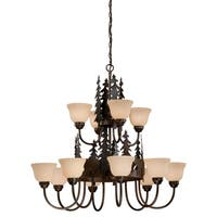 Vaxcel Bozeman 12L Chandelier Burnished Bronze