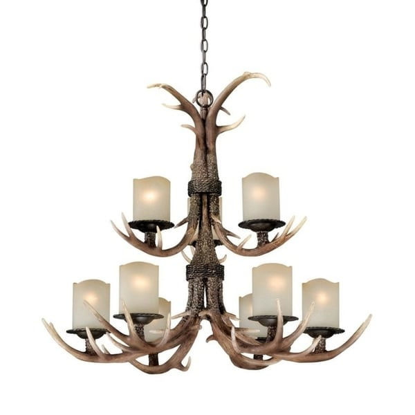 Vaxcel Yoho 9L Chandelier Black Walnut