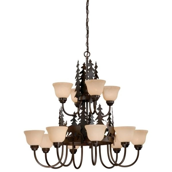 Bryce 12L Chandelier Burnished Bronze