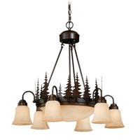 Vaxcel Yosemite 9L Chandelier Burnished Bronze