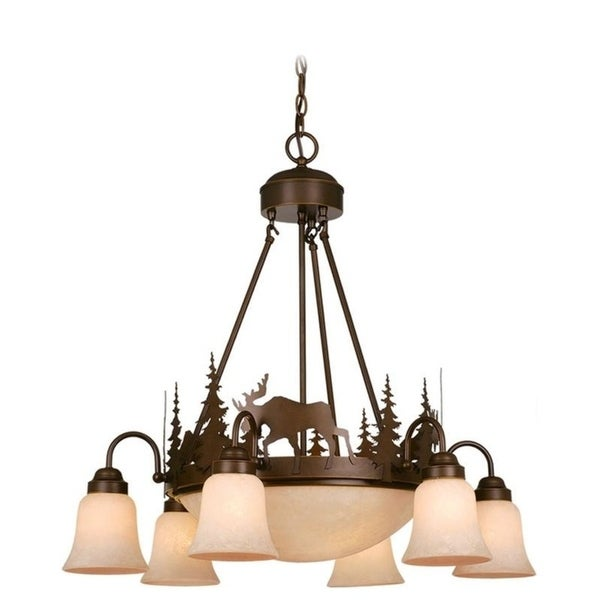 Vaxcel Yellowstone 9L Chandelier Burnished Bronze