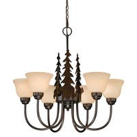 Vaxcel Bozeman 6L Chandelier Burnished Bronze
