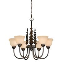 Vaxcel Yosemite 6L Chandelier Burnished Bronze