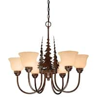 Vaxcel Yellowstone 6L Chandelier Burnished Bronze