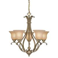 Vaxcel Monrovia 5L Chandelier Antique Brass