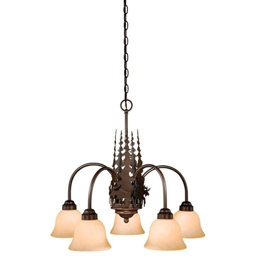 Vaxcel Yellowstone 5L Chandelier Burnished Bronze