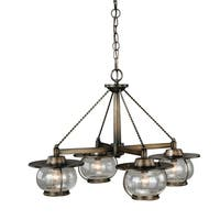Vaxcel Jamestown 4L Chandelier Parisian Bronze