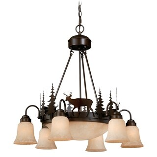 Vaxcel Bryce 9L Chandelier Burnished Bronze