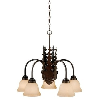 Bozeman 5L Chandelier Burnished Bronze
