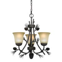 Vaxcel Sierra 3L Mini Chandelier Black Walnut