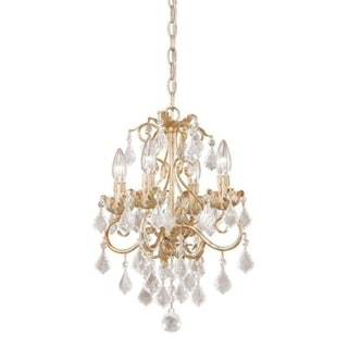 Vaxcel Newcastle 4L Mini Chandelier (Dual Mount) Gilded White Gold