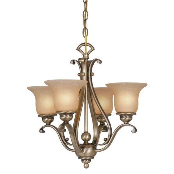 Monrovia 4L Chandelier Dual Mount(Ceiling Mount or Mini Chandelier) Royal Bronze