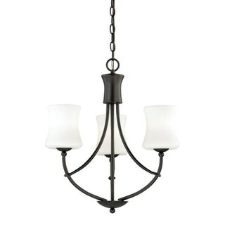 Poirot 3L Chandelier New Bronze