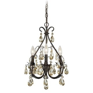Alicia 3L Mini Chandelier Gold Flake Bronze