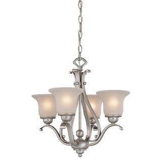 Vaxcel Monrovia 4L Chandelier Dual Mount(Ceiling Mount or Mini Chandelier) Brushed Nickel