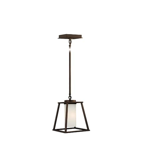 Mini Pendant Bronze Farmhouse Cage Mini Pendant Ceiling Light - 7.5-in W x 17.38-in H x 7.5-in D