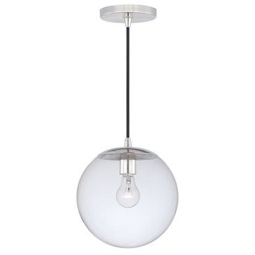 630 Series 10'' 1L Mini Pendant Polished Nickel w/Clear Glass