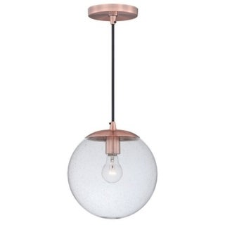 630 Series 10'' 1L Mini Pendant Copper w/Clear Seeded Glass