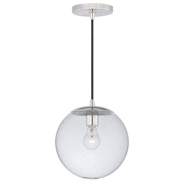 630 Series 10'' 1L Mini Pendant Polished Nickel w/Clear Seeded Glass