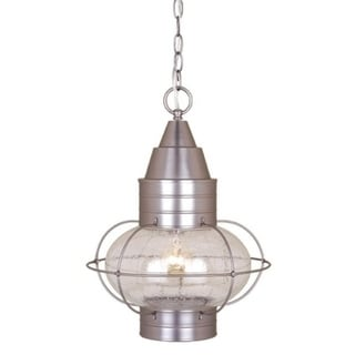 "Vaxcel Chatham 13"" Outdoor Pendant Brushed Nickel"