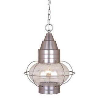 """Chatham 13"""" Outdoor Pendant Brushed Nickel"""