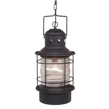 "Vaxcel Hyannis 10"" Outdoor Pendant Textured Black"