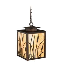 "Vaxcel Bulrush 9"" Outdoor Pendant Burnished Bronze"