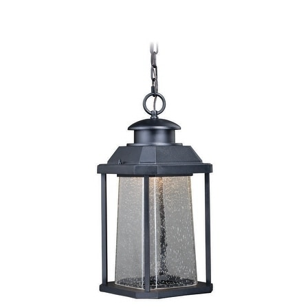 "Vaxcel Freeport 9"" LED Outdoor Pendant Textured Black"