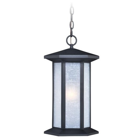 """Vaxcel Halsted 10"""" Outdoor Pendant Textured Black"""
