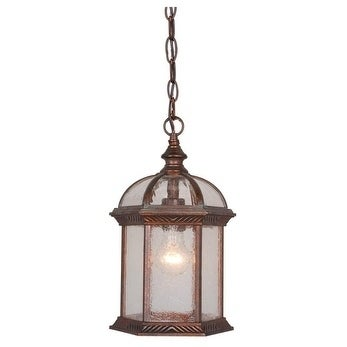 """Vaxcel Chateau 8"""" Outdoor Pendant Royal Bronze"""