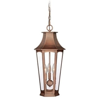 "Vaxcel Preston 10"" Outdoor Pendant Brushed Copper"