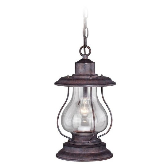 """Vaxcel Dockside 8"""" Outdoor Pendant Weathered Patina"""
