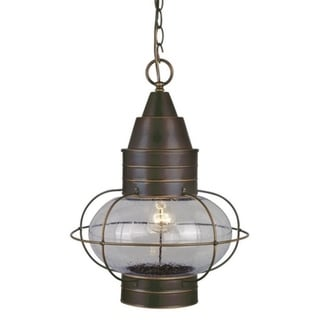 """Vaxcel Chatham 13"""" Outdoor Pendant Burnished Bronze"""