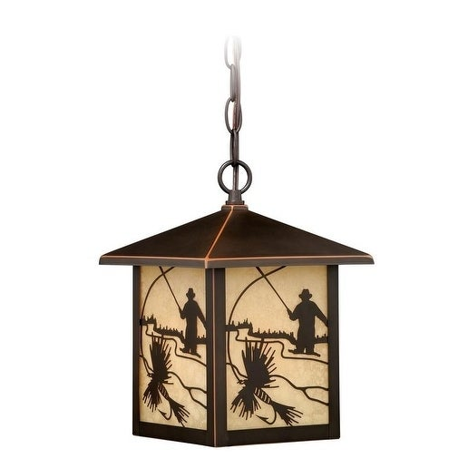 "Vaxcel Mayfly 8"" Outdoor Pendant Burnished Bronze"